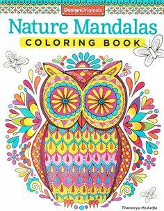 Arte-terapia: Nature mandalas coloring book