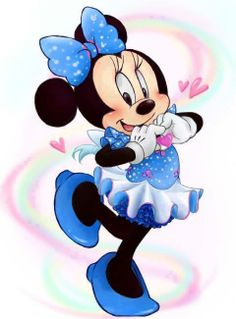 Minnie mouse blue