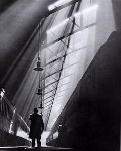 Light Rays on Trains, La Salle Street Station, Chicago   William M. Rittase, 1931   Gelatin Silver print
