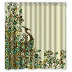 Fashion Custom Beautiful Peacock Pattern Waterproof Polyester Fabric Shower Curtain 66 x 72 Shower Curtain http://smile.amazon.com/dp/B00L7U5Z2K/ref=cm_sw_r_pi_dp_KMu6ub14B593E