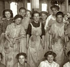 mill girls cotton mill 1908 My grandmother worked in a mill in Sanford, NC. Times were so tough my dad remembers eating only biscuits and gravy for weeks.