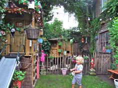 Functional and fun backyard for children.