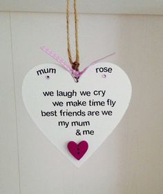 Personalised Handmade Mum U0026 Me Quote Plaque. These Bespoke Plaques Are  Carefully Handmade To Order
