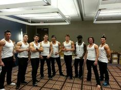Men of LaBare Dallas in Chicago.  L-R: Diego, Adonis, Kayden, Jason, David, Channing, Ace, Lance, & Cesar