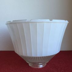 national home lamp council torchiere lamp shade no 954 white opaque and clear glass waffle weave