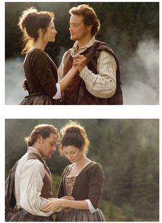 I love looking back to these original pics now, they seem so sweet and young. James Fraser Outlander, Outlander Tv Series, Sam Heughan Outlander, Gabaldon Outlander, Diana Gabaldon, Claire Fraser, Jamie Fraser, Cat Valentine Victorious, Ariana Grande Facts