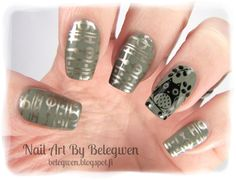 owl: Pueen40;  rest of nails stamped with Pueen31