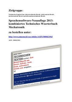 Technik und Text: Fachuebersetzungen