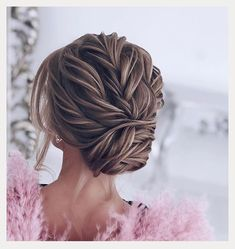 Five Favorite Bridal Hairstyles From Elstile ~ cool twisted chignon