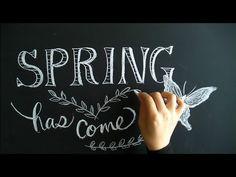 春から始めたい黒板を使ったチョークアート(spring.chalkart)