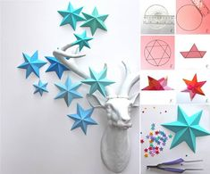 Creative Ideas - DIY 3D Paper Star Ornaments