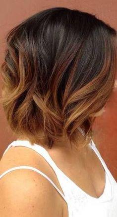 ombre hairstyles for short brown hair ile ilgili görsel sonucu