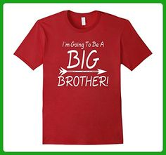 Mens Big Brother Shirt - I'm Going To Be A Big Brother  Large Cranberry - Relatives and family shirts (*Amazon Partner-Link)