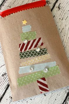 56 Genius Gift Wrapping Ideas to Try This Holiday Season 38 Christmas Gift Wrapping Ideas - Creative DIY Holiday Gift Wrap Christmas Treat Bags, Christmas Gift Wrapping, Diy Holiday Gifts, Diy Gifts, Holiday Ideas, Christmas Crafts, Christmas Decorations, Christmas Ornaments, Christmas Trees