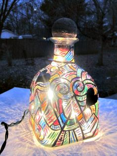 Patron Bottle Light Night Light Accent Light by GlassGaloreGal