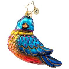 Christopher Radko Jewel of the Sky Bird Glass Christmas Ornament 2014 Product Features Mouth blown glass Hand painted in Poland Ships with official Christopher Radko gift box Modern Christmas Ornaments, Peacock Christmas, Old World Christmas Ornaments, Christmas Bird, Christmas 2014, All Things Christmas, Vintage Christmas, Christmas Decorations, Vintage Decorations