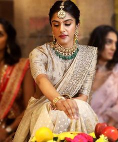 Our Favorite At The End Of November - AwesomeLifestyleFashion Sunshine Yellow Ever thought of yellow . Indian Bridal Outfits, Indian Bridal Fashion, Indian Designer Outfits, Lehenga Designs, Half Saree Designs, Indian Gowns Dresses, Bridal Dresses, Party Dresses, Lehnga Dress