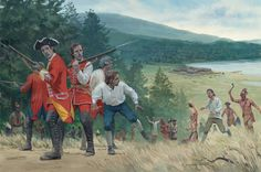 The Massacre atfter the surrender of Fort William Henry, 10th August 1757 by Graham Turner