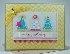 Laura's Works of Heart: PENNANT PARADE CARD: