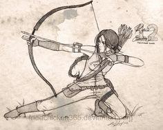 Katniss Everdeen by friedChicken365.deviantart.com
