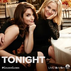Get ready for Hollywood's favorite night! Don't miss Tina Fey and Amy Poehler host the #GoldenGlobes TONIGHT at 8pm ET on NBC.
