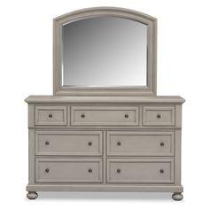 Antique Bedroom Furniture Value east hampton antique white dresser & mirror | value city furniture