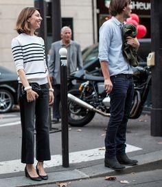 Sofia Coppola and Thomas Mars (September Fashion Niños, Daily Fashion, Fashion Couple, Fashion Outfits, Sofia Coppola Style, Best Street Style, Fashion Articles, Parisian Chic, Looks Style