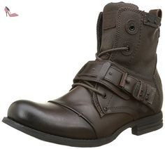 Bunker Sozo Sp, Bottes Motardes Homme, Marron (Moro), 41 EU - Chaussures bunker (*Partner-Link) Bike Boots, Fashion Boots, Mens Fashion, Rugged Style, Moda Casual, Converse, Designer Boots, Cool Boots, Urban Outfits