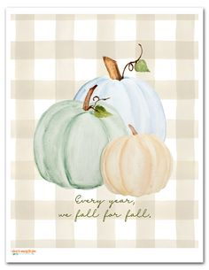 This lovely and FREE Pumpkin Printable is a sweet little piece of decor to welcome the fall. Pumpkin Printable, Fall Projects, Fall Pictures, Autumn Art, Painted Pumpkins, Fall Cards, Fall Diy, Thanksgiving Crafts, Fall Harvest