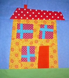 ... Mini Grey: Milly's Wonky House Quilt - Bloggers Quilt Festival Time