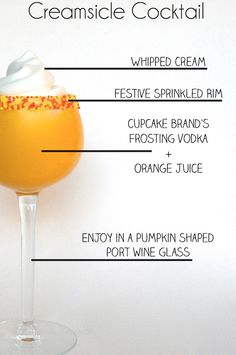 A Halloween Creamsicle Cocktail @Stephanie Close Whiteman ohhh yea were trying this.