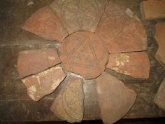 Lichfield Priory tiles newly discovered, posted on Twitter https://pbs.twimg.com/media/B-sF7VgXAAAJpUr.jpg:large