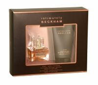 Beckham Intimately Him Edt Gift Set Intimately Beckham Men Gift Sets opens with notes of bergamot, grapefruit zest and cardamom, with a heart of violet, nutmeg and star anise, rounded off with a base of sandalwood, patchouli and amber. Gift Set includes: Eau De Toilette 30ml and Hair & Body Wash 150ml