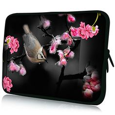 """""""Vogel en Bloem"""" Patroon Nylon Materiaal Waterdicht Sleeve Case voor 11 """"/ 13"""" / 15 """"Laptop & Tablet – EUR € 7.91"""