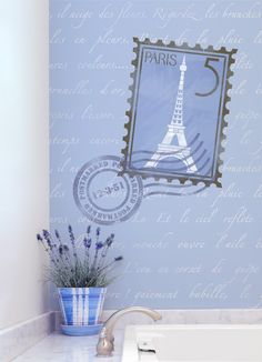 From Paris with Love: Wall Pattern Springtime in Paris Stencil Set for Wall Decor and More. $129.00, via Etsy.