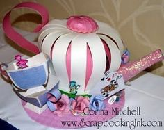 My Creative Ink: Alice Teapot Hat Shelley, you need to make this! Crazy Hat Day, Crazy Hats, Mad Hatter Hats, Mad Hatter Tea, Mad Hatters, Tea Party Hats, Tea Parties, Easter Hat Parade, Diy For Kids