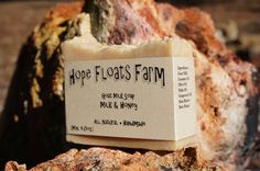 Milk & Honey GOAT MILK SOAP  All Natural by HopeFloatsFarm on Etsy