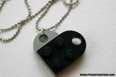 Polish The Stars: Quick Crafting Diy Jewelry, Beaded Jewelry, Jewelry Necklaces, Diy Necklace, Dog Tag Necklace, Legos, Diy Tutorial, Jewerly, Valentines Day