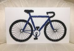 Your place to buy and sell all things handmade Bicycle String Art, Bike Art, Custom Velo, Custom Bikes, Bicycle Hanger, Entryway Art, Bicycle Painting, Wood Stain Colors, Diy Crafts Hacks
