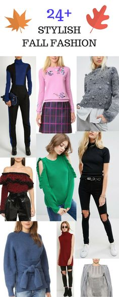A collection of more fall and winter styles. Everything from oversized sweater to embellished fall looks. Fall styles for work and casual outings.