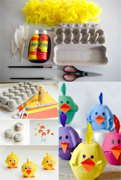 DIY Easter Maternity- 10 fun and easy to imitate activities! - DIY Easter Maternity- 10 fun and easy to imitate activities! Easter Activities, Craft Activities, Diy Crafts For Kids, Fun Crafts, Egg Carton Crafts, Diy Ostern, Spring Crafts, Craft Videos, Easter Crafts