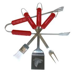 Siskiyou Products NFL 4-Piece BBQ Grill Tool Set NFL Team: Atlanta Falcons 78120