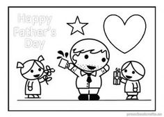 Happy Fathers Day Coloring Pages For Preschool This Section Has A Lot Of Free Printable Kindergarten And Kids