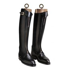 Premium Zipped Polo Boots These beautiful premium zipped polo boots exude quality and perfection as would be expected from one of the finest boot Riding Gear, Riding Boots, Polo Boots, Country Outfits, Rubber Rain Boots, Calves, Zip, Leather, Uber