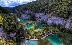 Look at how pretty Croatia is... near Plitvice