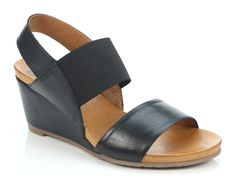 EOS Footwear 'Emka' only available in Black. Wedge heeled sandal with elastic front ankle strap. Winter Shoes For Women, Italian Leather, Wedge Heels, Eos, Ankle Strap, Footwear, Wedges, Pairs, Summer