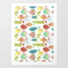 Fish Art Print by Giovanamedeiros - $14.56