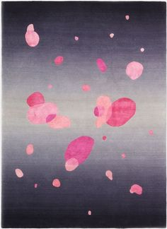 Deirdre Dyson 'Bubblegum' wool and silk hand knotted rug 1.7 x 2.2m ON SALE NOW.  Save up to £950 on RRP.