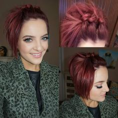 Yesterdays hair just tied my hair in knots! The post Yesterdays hair just tied my hair in knots! appeared first on Hair Styles. Pixie Updo, Pixie Hairstyles, Cool Hairstyles, Pixie Braids, Pixie Haircuts, Short Hair Up, Hair Fixing, Corte Y Color, Pinterest Hair