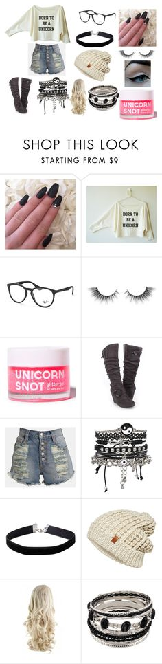 """""""casual day out"""" by raybabe on Polyvore featuring Ray-Ban, Unicorn Lashes, FCTRY, MINKPINK, Avon, ASOS, Miss Selfridge and ONLY"""